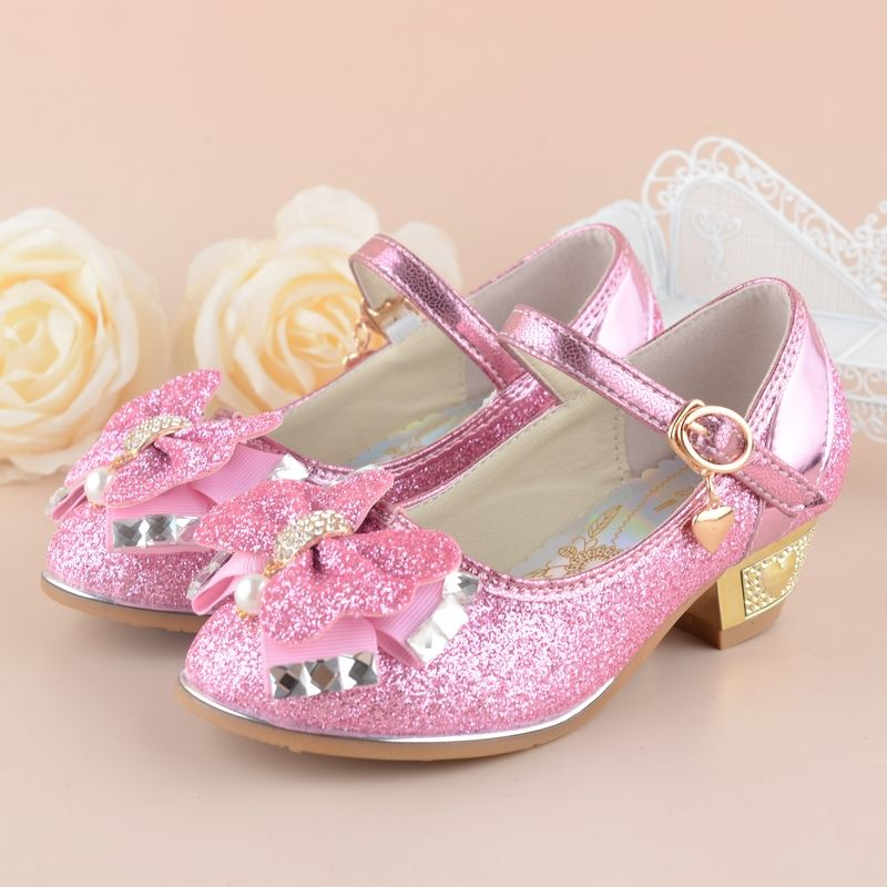 44646bd96 Glittler Princess Girls Shoes 2017 New Brand Spring Rhinestone Sandals  Children Wedding Student Kids Party Shoe