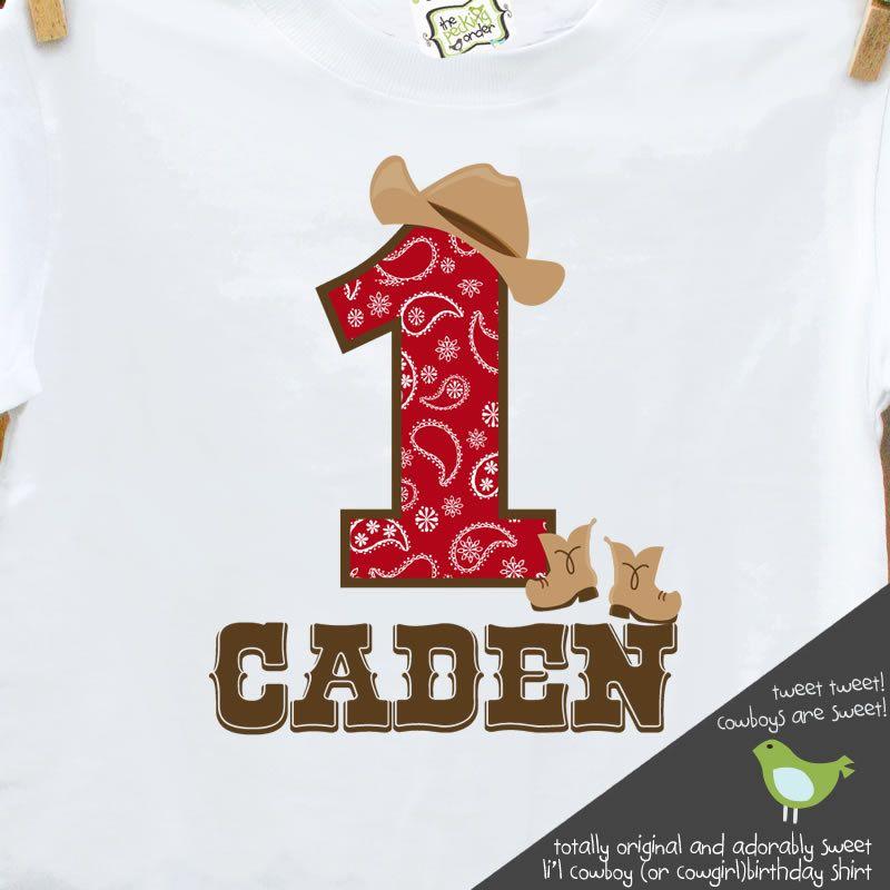 Cowboy Birthday Shirt Or Cowgirl Buckaroo Party