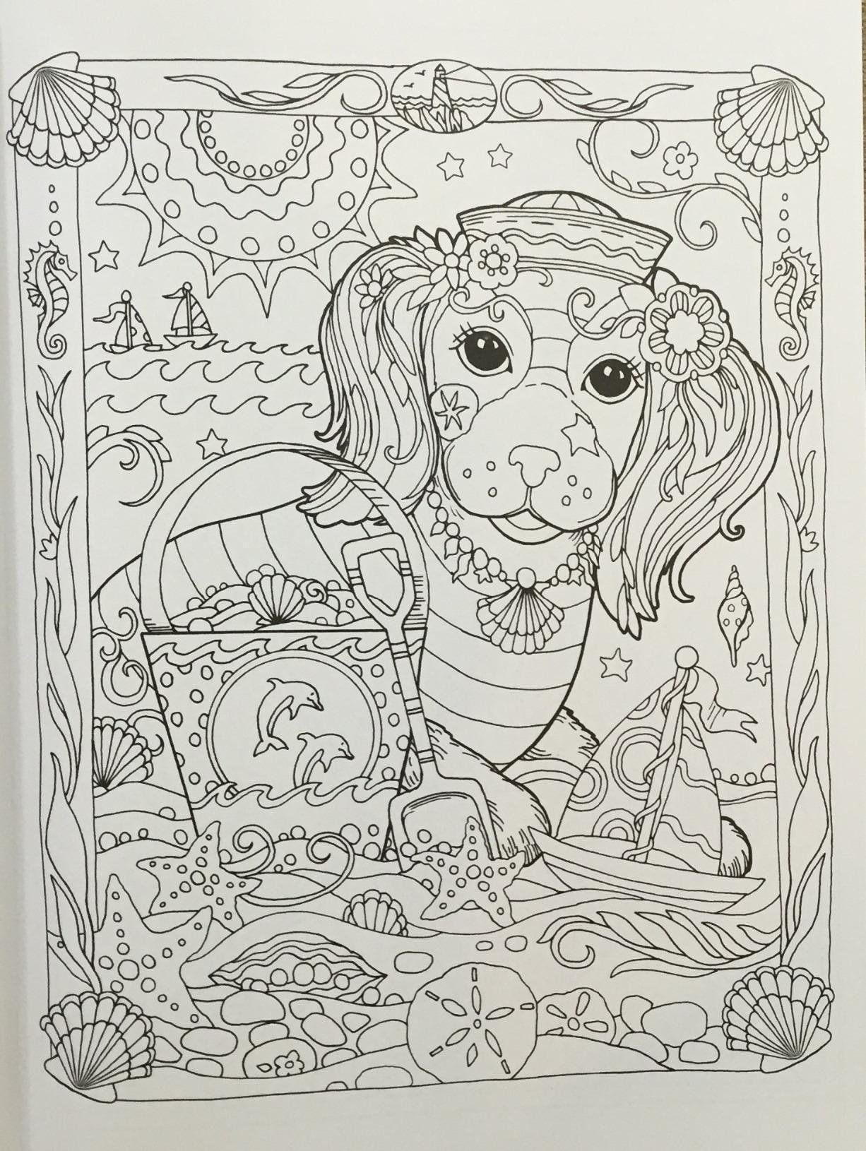 Amazon Prime Now: Creative Haven Dazzling Dogs Coloring Book (Adult ...
