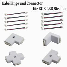 schnellverbinder connector verl ngerungskabel l t verbinder f r rgb led strip amica 1 12. Black Bedroom Furniture Sets. Home Design Ideas