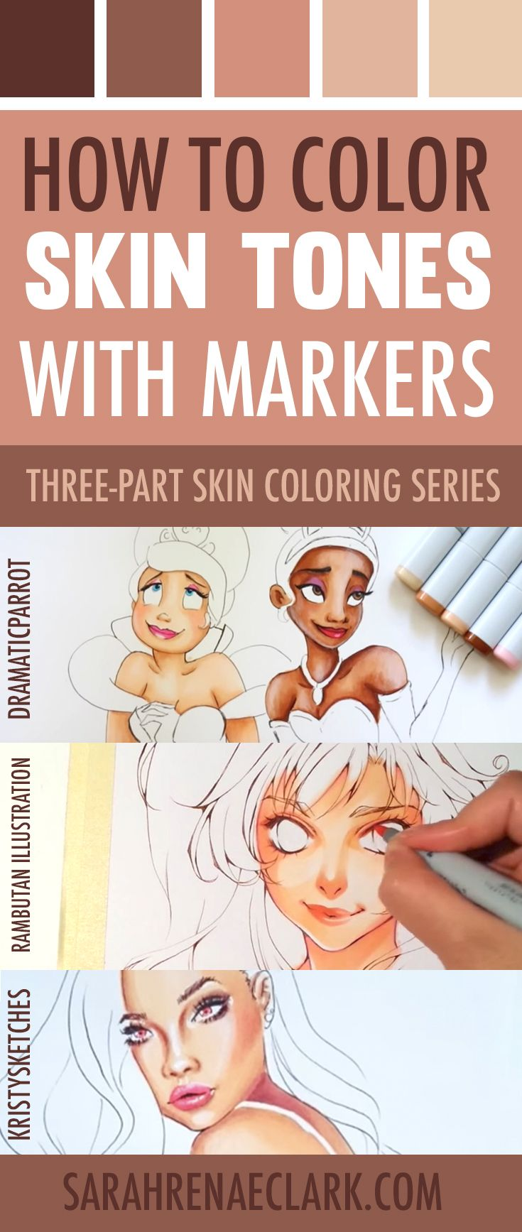 How to Color Skin Tones | Colored pencils, Markers and Clarks