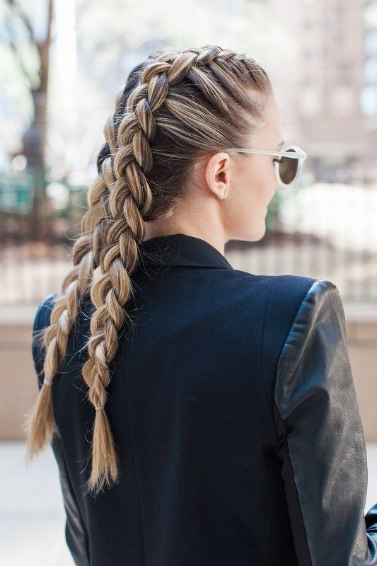 Picture Of Chic Diy Double Dutch Braids Try 2 Dutch Braid Hairstyles French Braid Hairstyles Braided Hairstyles Easy