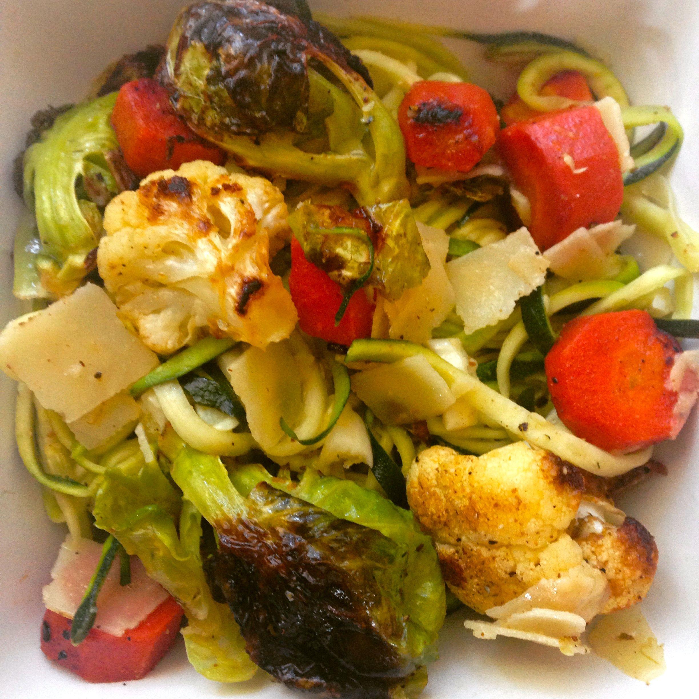 Zuchetti with roasted veggies