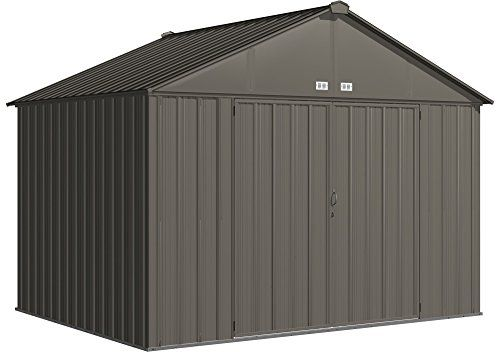 Arrow Ez10872hvcc Ezee Shed Extra High Gable 72 Walls 10 X 8 Charcoal Finish Amazon Most Trusted E Steel Storage Sheds Shed Storage Home Depot Storage Sheds