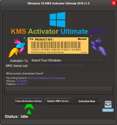 Kms activation tool