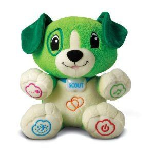 Adorable plush puppy which can be customized to learn your child's name and favorite things via a simple computer download. Plays lullabies, learning songs and teaches numbers, animals, food and more. Select from an additional 30 songs online. Awesome cuddly and educational toy for ages 6 months- 2+ years.