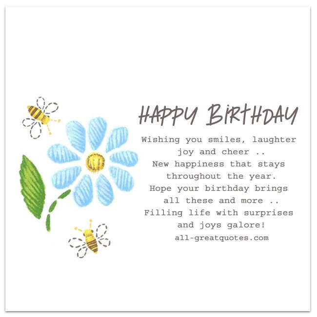 Happy Birthday Wishing You Smiles Laughter Joy And Cheer More