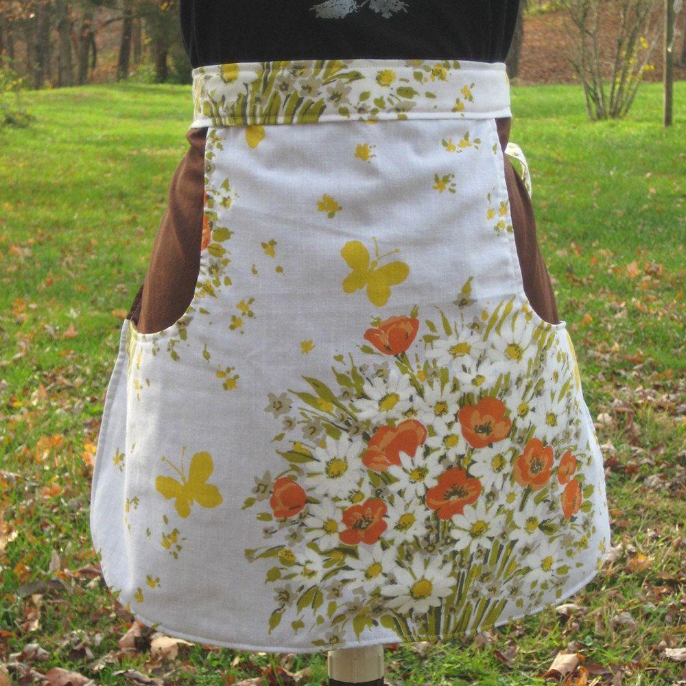Half Apron Oversized Pocket Reclaimed and Vintage Fabrics Perfect ...