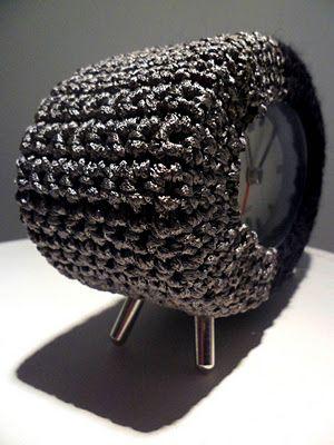Clock cover crochet By Virpi Siira