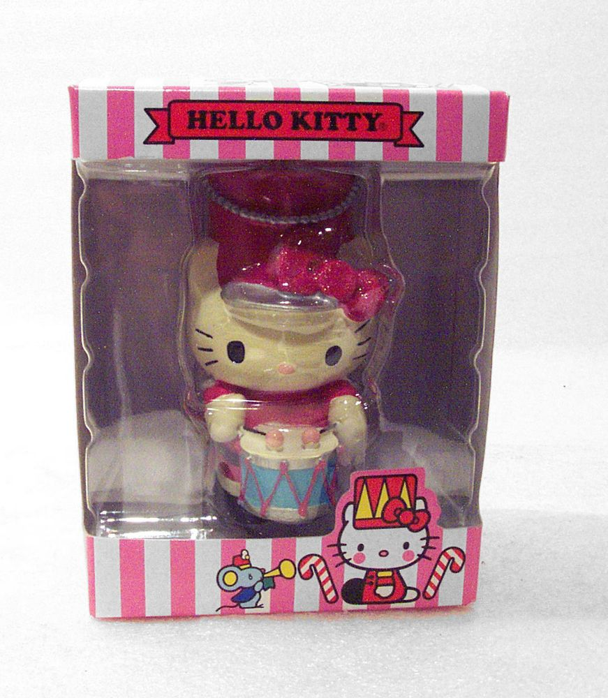 Marching Band Christmas Ornaments Part - 49: HELLO KITTY Marching Band Drummer Christmas Ornament NIB Cat Sanrio