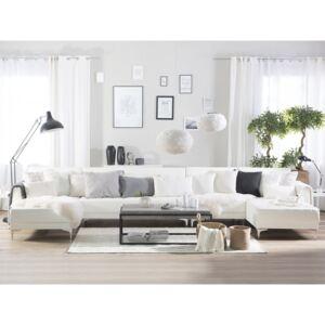 Rozkladaci Sedaci Souprava Xxl Z Bile Ekokuze Aberdeen Favi Cz In 2020 Leather Sofa Faux Leather Sofa Leather Sofa Living Room