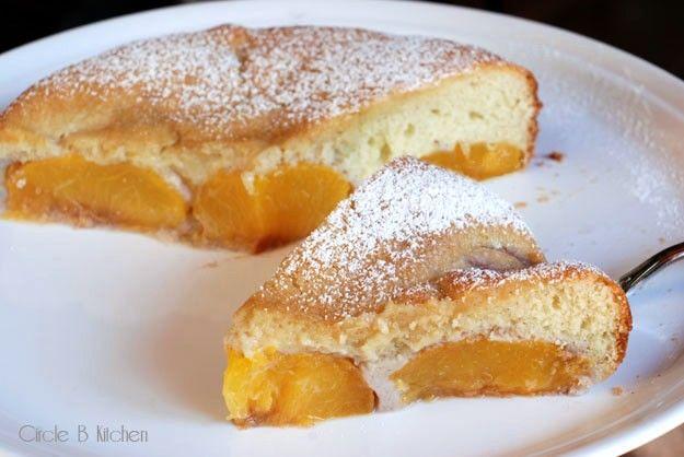 Plain Cake Recipe Jamie Oliver: Jamie Oliver's Fresh Peach Pudding Cake