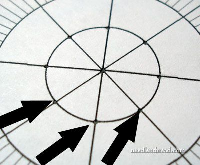 Stitch Fun Petals  Spokes  How To Space Them  Graph Paper And