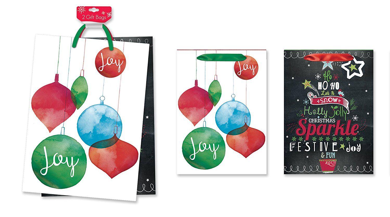 2 Pack of Jumbo Christmas Gift Bags Xmas Giftbags - Whimsical ...