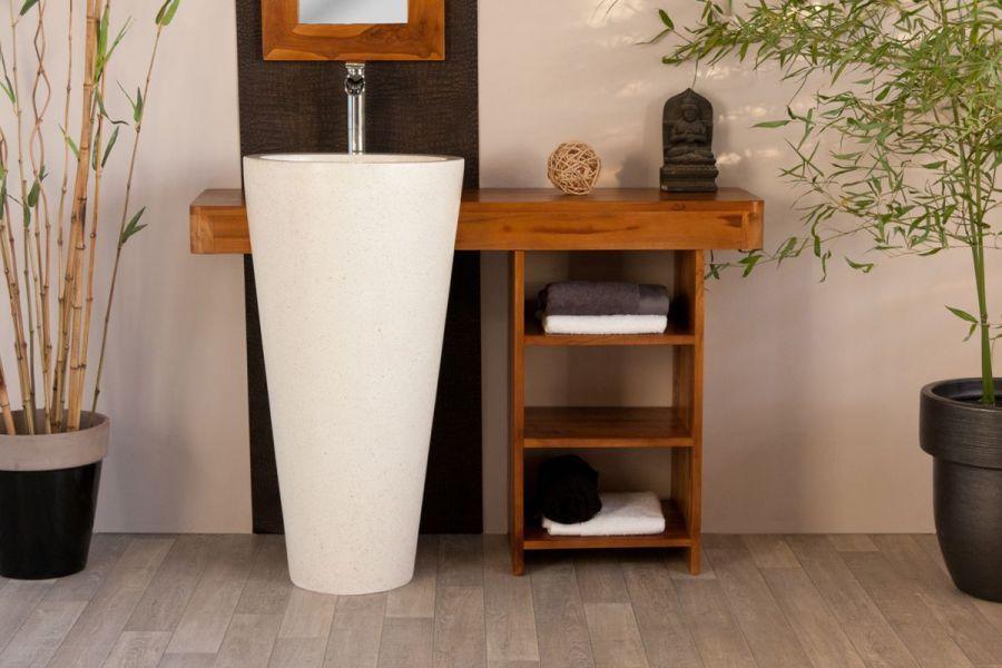 Meuble salle de bain Teck OSIRIS simple, Meubles Salle de Bain en