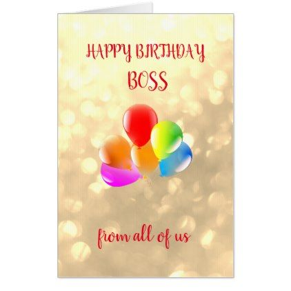 Large Happy Birthday Boss Design Card
