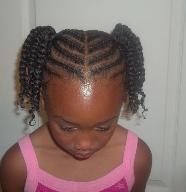 Cornrowed Ponytails With Two Strand Twists So Cute