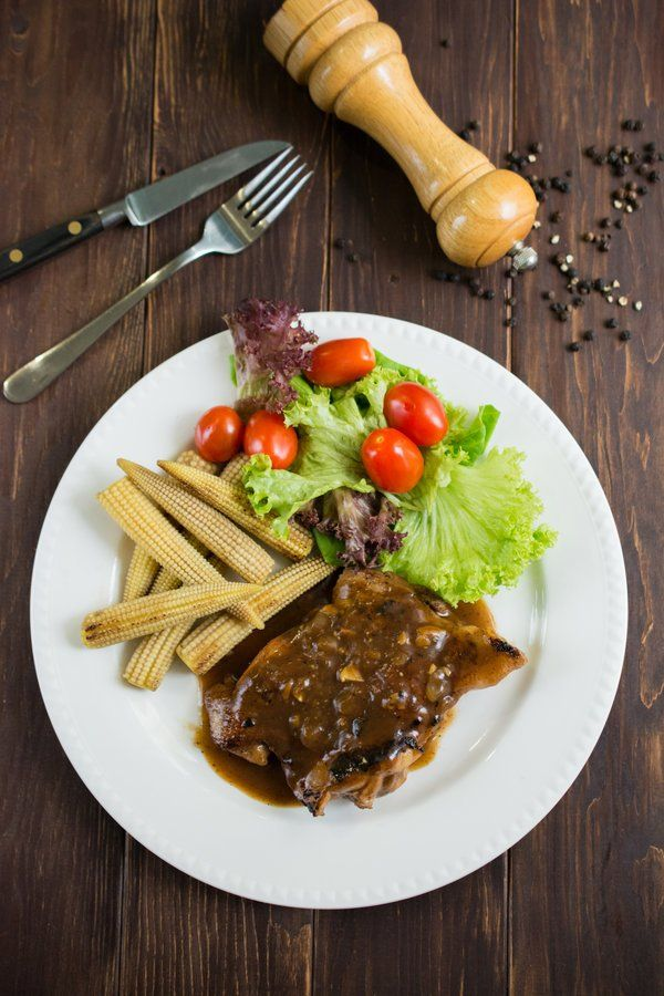 Chicken Chop With Black Pepper Sauce Recipe Food And Drink