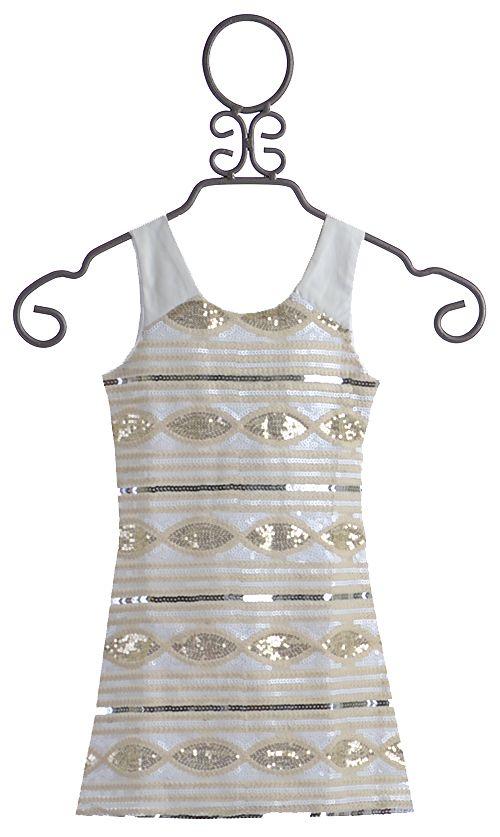 f57afb94d25e 3 Elisa B Tween Cocktail Dress Gold Sequins  79.00