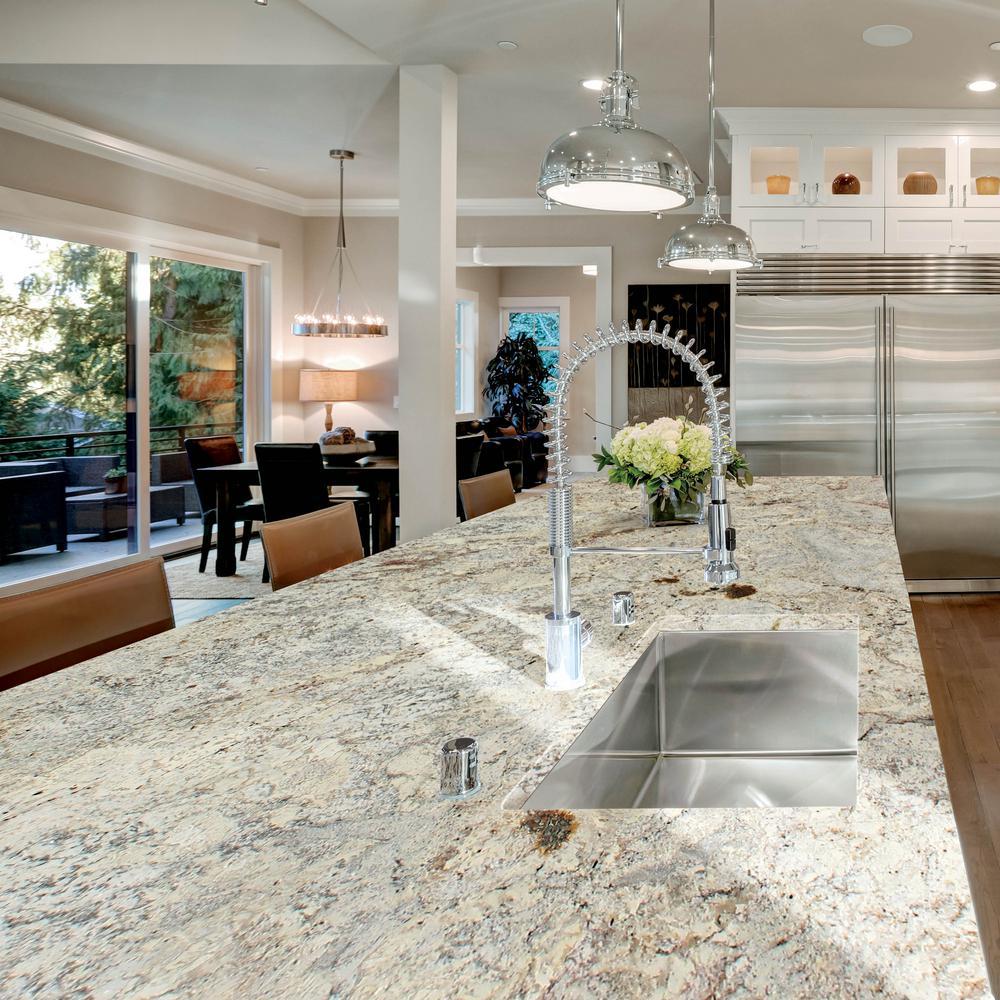 Stonemark 3 In X 3 In Granite Countertop Sample In White Springs