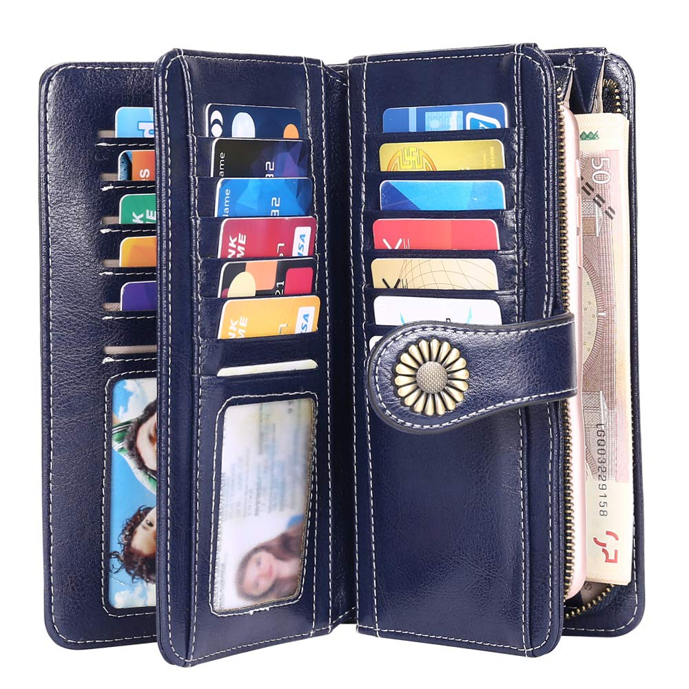 NEU Damen Geldbörse Portmonee Portemonnaie Leder Geldbeutel mit vielen Fächern