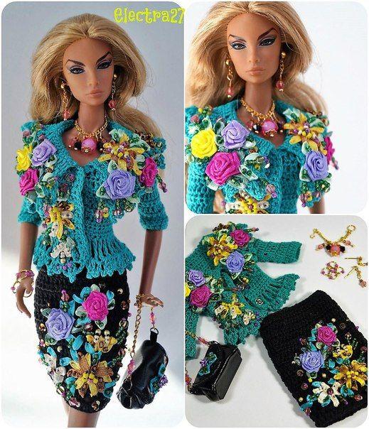 Куклы. Дизайнерская модная одежда, вязание.   Модные стили ...