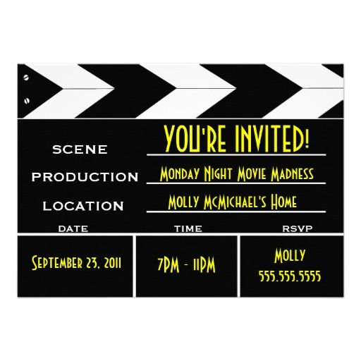 movie invitation templates