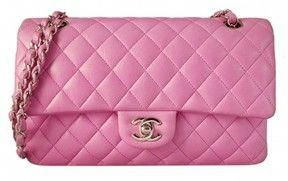 a697787bb91d pristine (PR) Chanel Pink Quilted Lambskin Classic 2.55 Double Flap Shoulder  Bag on shopstyle.com #Chanelhandbags