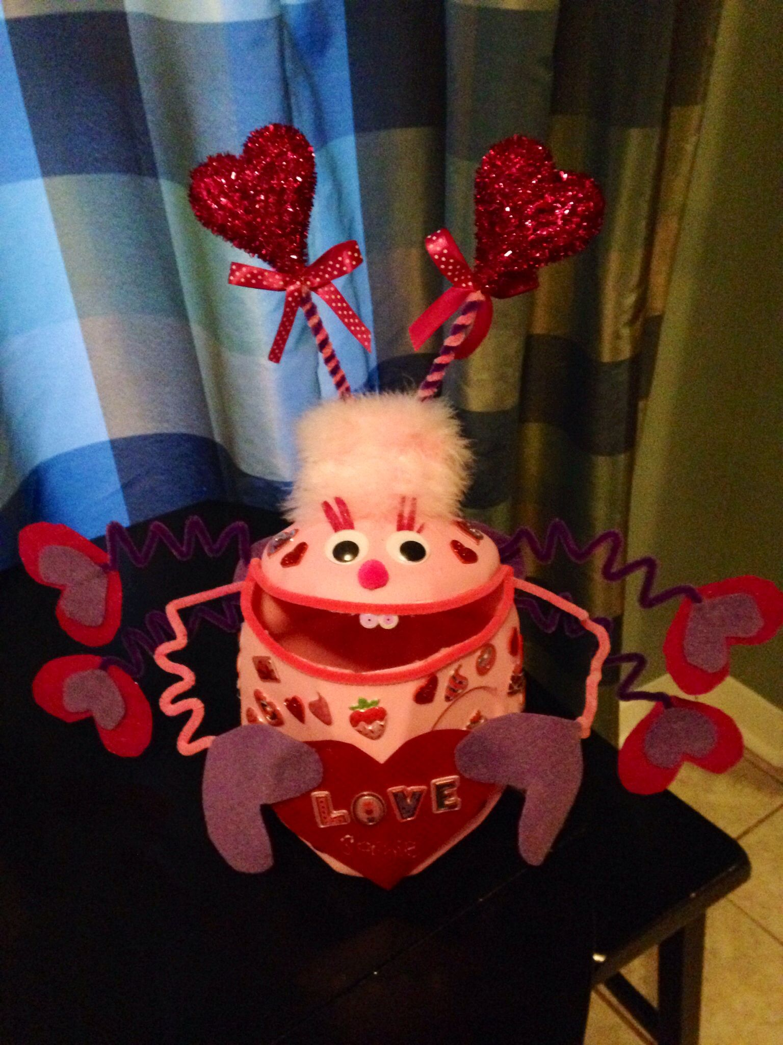 Valentine Card Holder  made out of a milk jug  Crafts