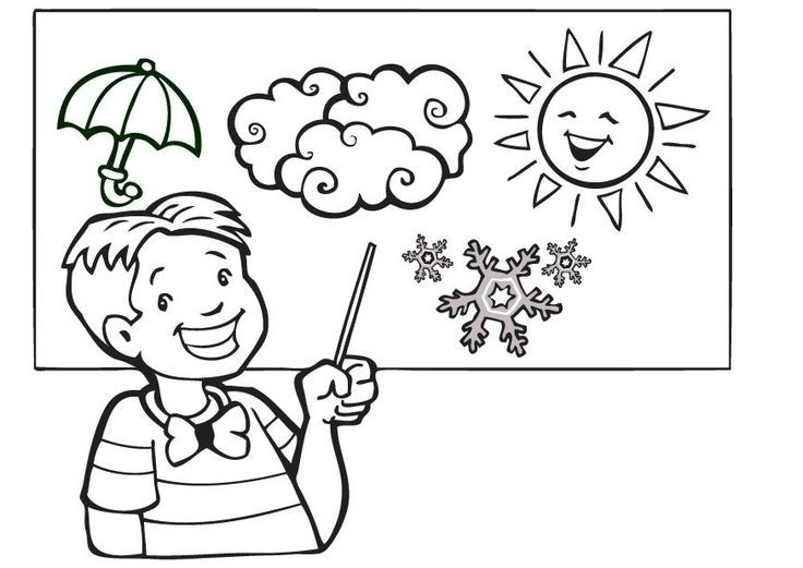 The Best Weather Coloring Sheets Kindergarten