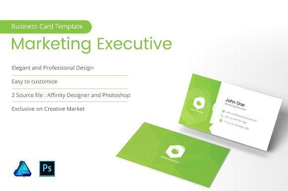 Marketing Executive Business Card Templates Marketing Executive Business Card Business Card Template Design Business Card Design Business Cards Diy Templates