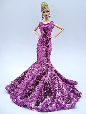 Eaki Sequine Evening Mermaid Dress Outfit Gown Silkstone Barbie Fashion Royalty
