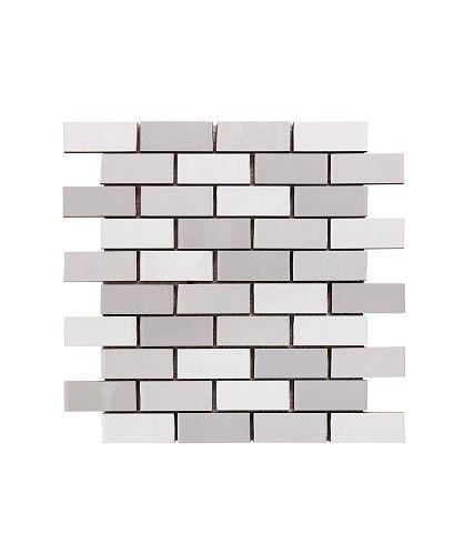 Chic Grey Shades Brick Mosaic
