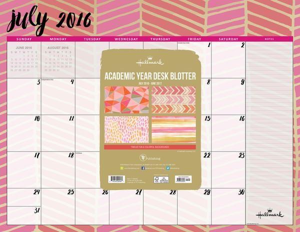 2017 Hallmark AY Desk Blotter #planner #blotter #desk #hallmark #art #plan