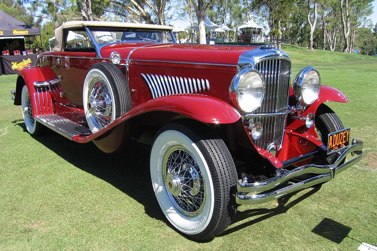 old time photos | 1929 Duesenberg roadster red car old time car ...