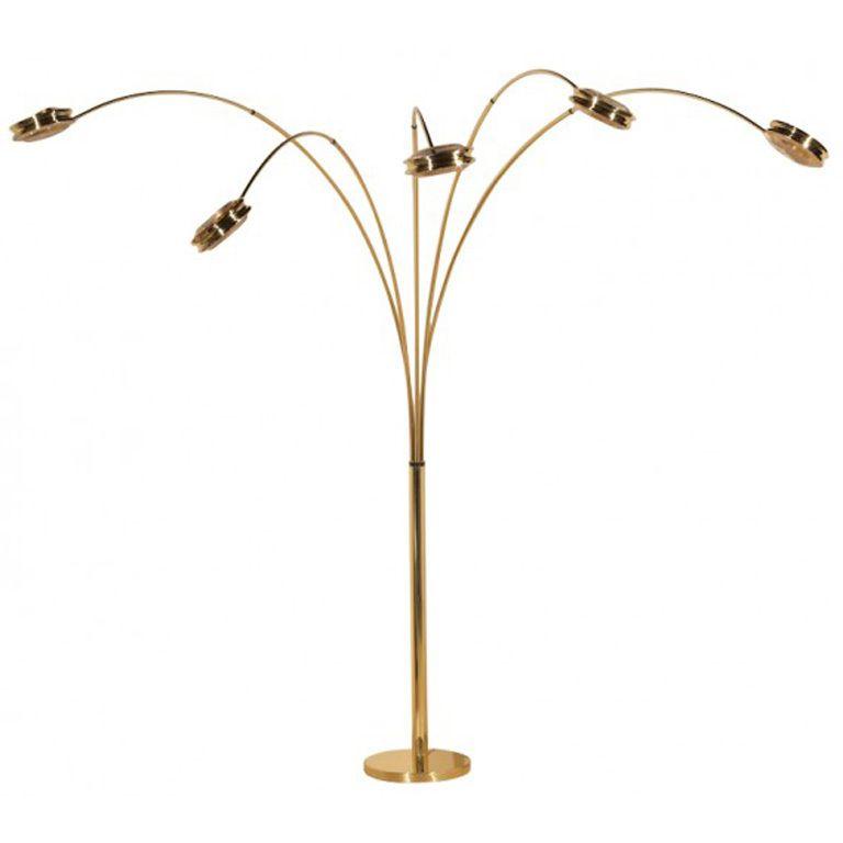 1970 S Italian 5 Arm Arc Lamp With Images Arc Lamp Floor Lamp