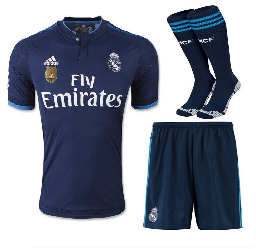 more photos b0a42 8d25d Real Madrid 15-16 3RD Away FULL KIT Personalized Name and ...
