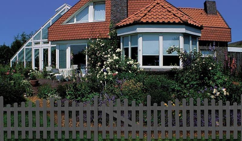 Großartig Die Kunststoff Gartenzäune Preston sind in der Farbe Anthrazit und  KD59