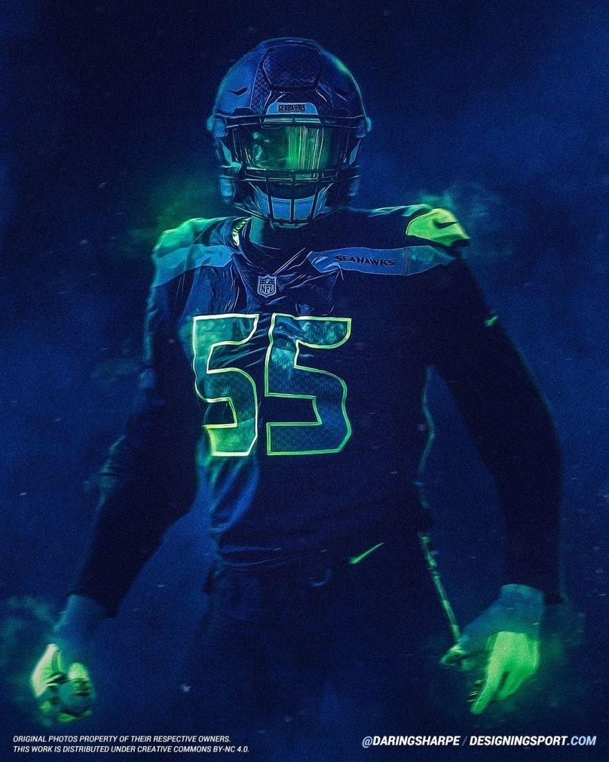 Frank Clark Seattle Seahawks Seahawks Nfl 12thman Intended For