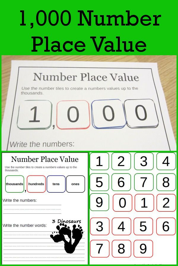 Free 1000 Number Place Value Printables Homeschool Math Place