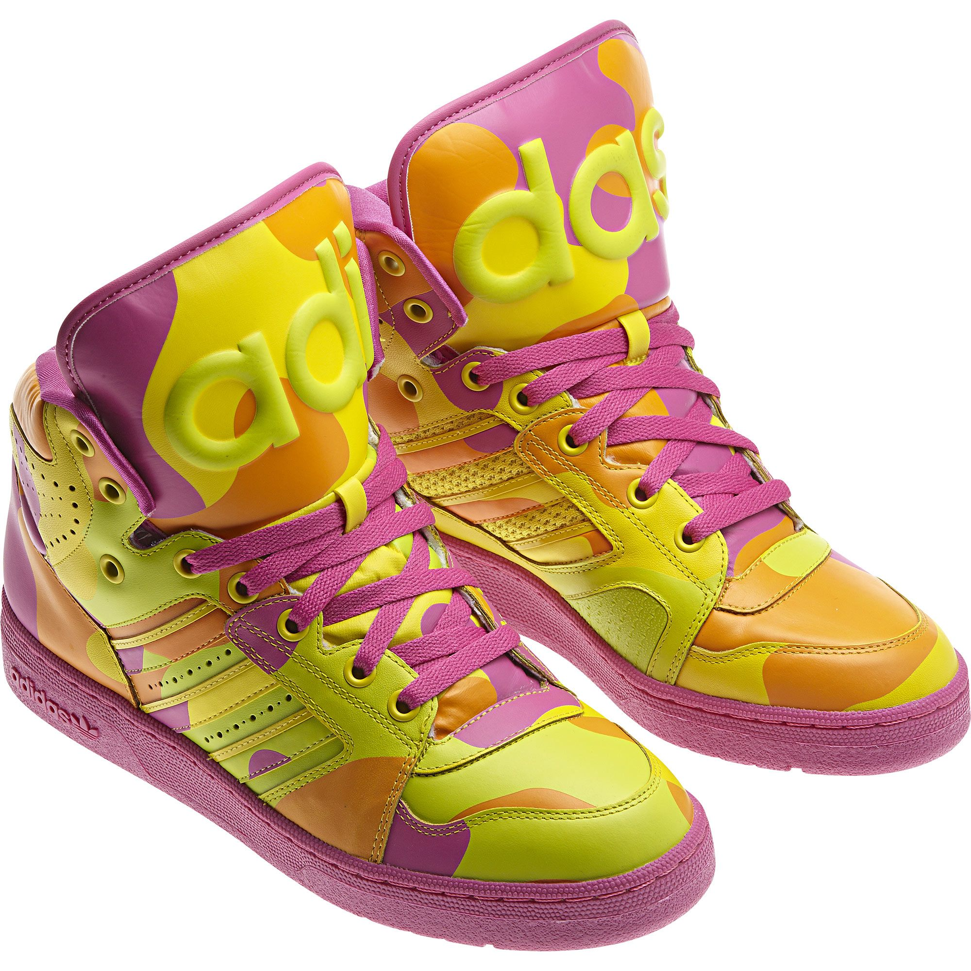 timeless design a631f 11096 Adidas Jeremy Scott Instinct Hi Neon Camo Shoes  jeremyscott  shoes  adidas