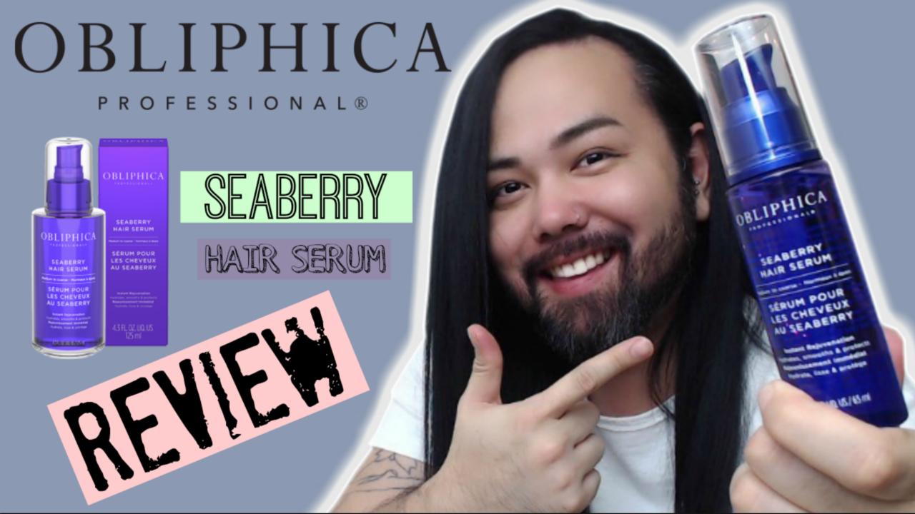 OBLIPHICA SEABERRY HAIR SERUM Hair serum, Serum, Hair