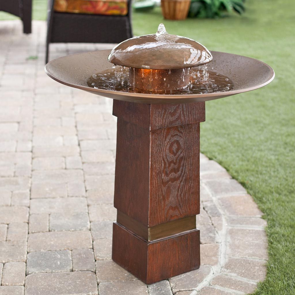 Kenroy Portland Sound Garden Water Outdoor Bird Bath Fountain   What We  Like About This Fountain The Portland Sound Garden Water Fountain Takes A  Simple ...