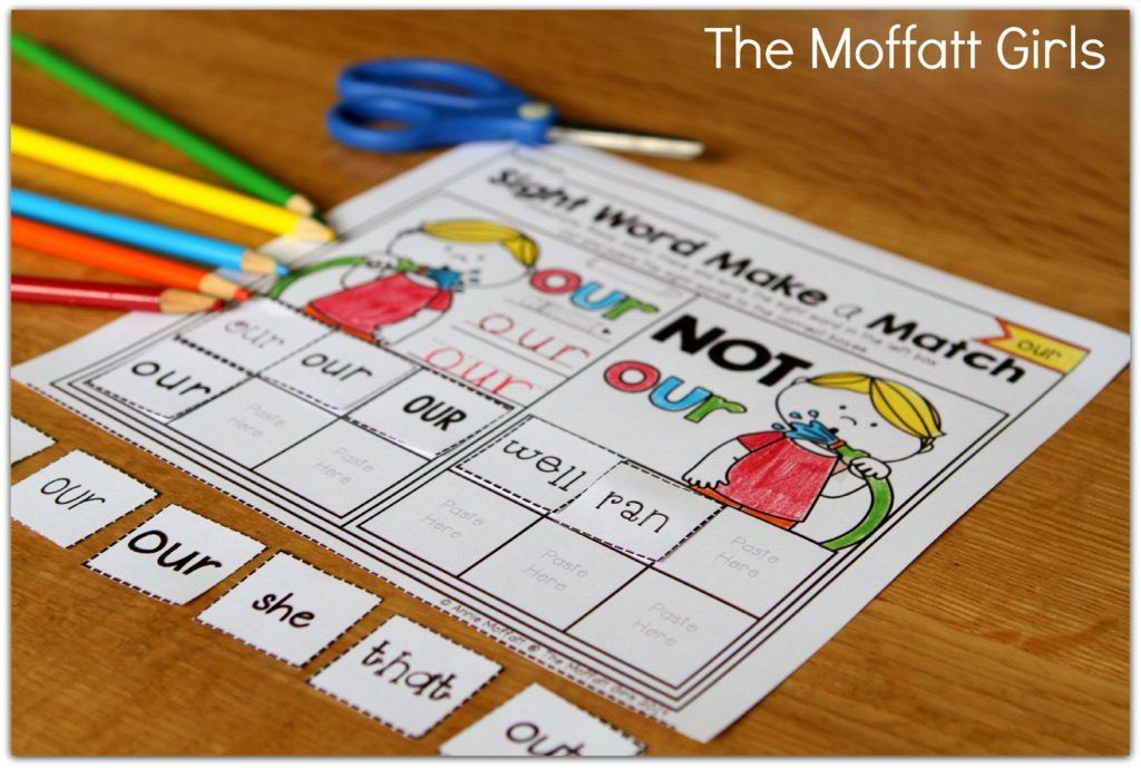 Our Sight Word Make a Match packets allow a beginning or struggling reader master tricky sight words, for Preschool-1st Grade!
