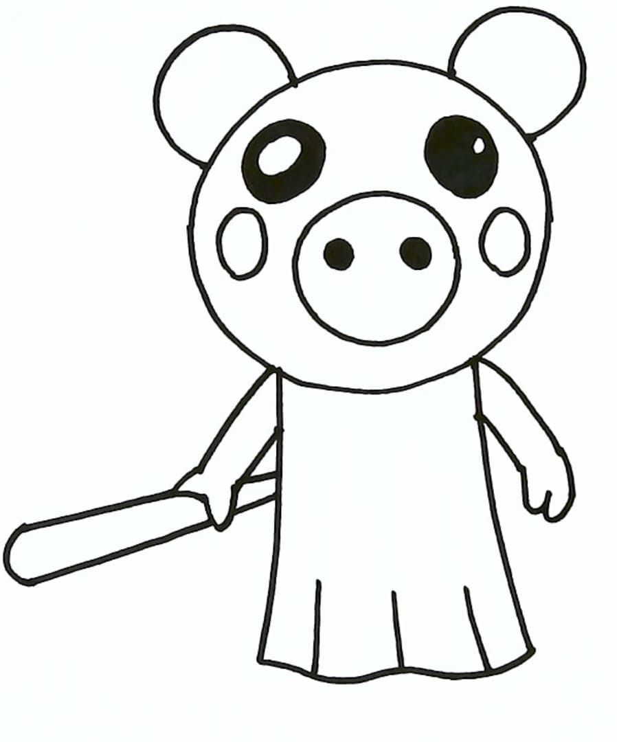 Coloring Pages Roblox Piggy Adopt Me And Others Print For Free Peppa Pig Coloring Pages Coloring Pages Cool Coloring Pages