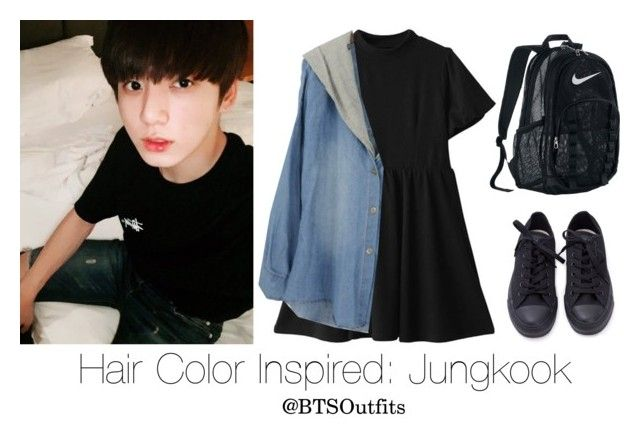 Hair Color Inspired: Jungkook by btsoutfits on Polyvore featuring polyvore, fashion, style, NIKE and clothing
