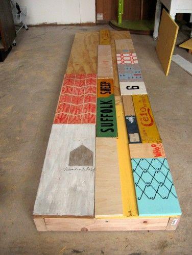 Artful Scrap Wood Bench Reclaimed Wood Benches Scrap