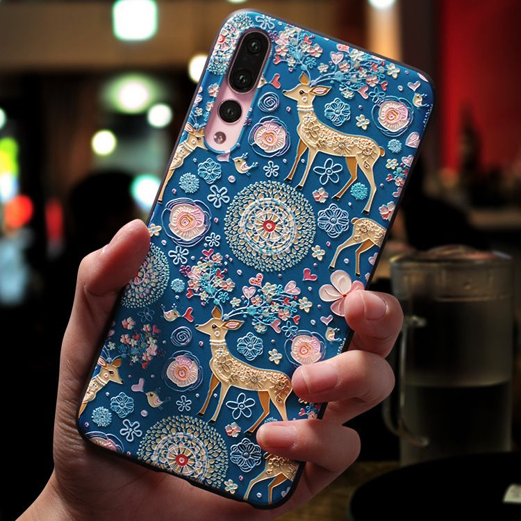 Suave Tpu 3d En Relieve Para Huawei Honor 8x 7a Pro 9 Lite 10 Para Huawei P Smart 2019 P30 P20 P8 P9 P10 Mate Fundas Para Iphone Iphone 5 Forros Para Celulares