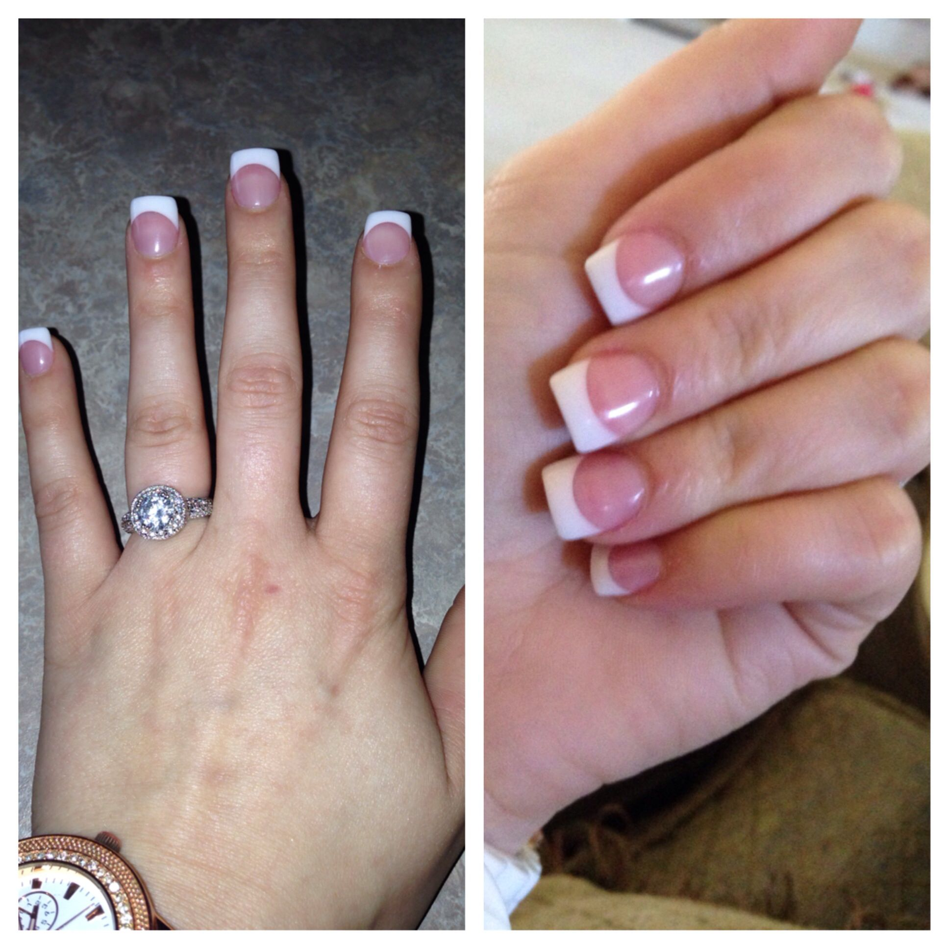 Pin By Amy Lowrie On Nails French Tip Acrylic Nails French Nails Short Acrylic Nails