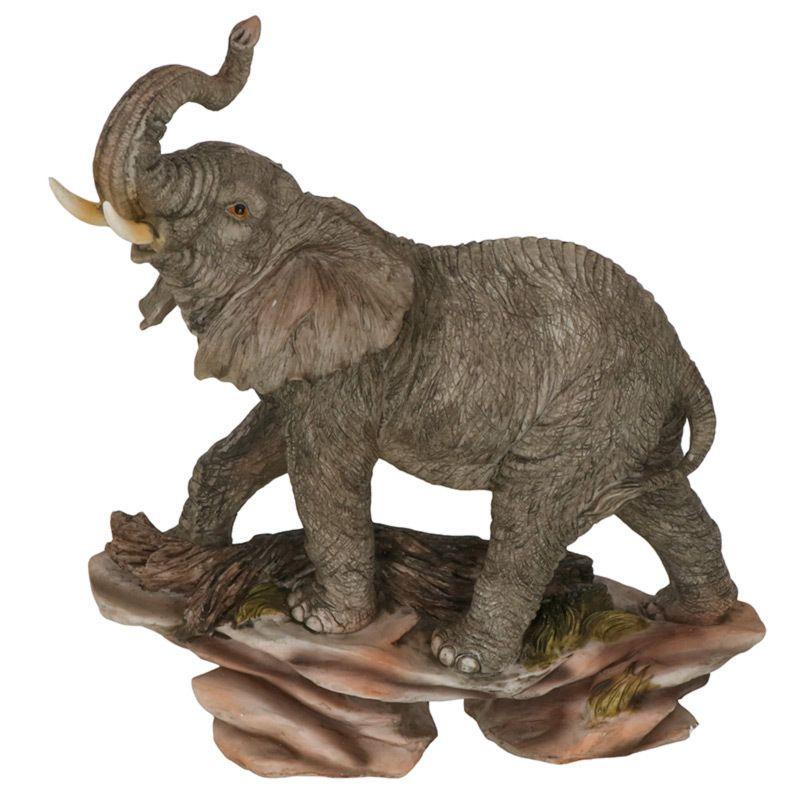Elephant On A Rock Garden Statue 34Cm Figurine Ornament 400 x 300